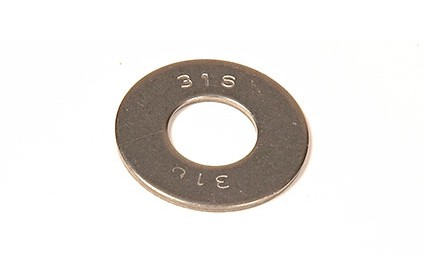 5/16 F-436  FLAT WASHER BLACK