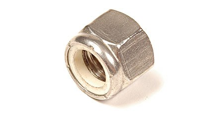 9/16-12 NYLON INSERT LOCK NUT ZINC PLATED