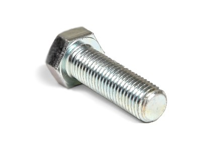 M8-1.25 X 45MM GR 10.9 HEX HEAD CAP SCREW ZINC PLATED