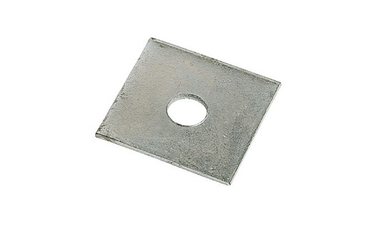 "1/2\ X 2"" X .125 THICK SQUARE PLATE WASHERS PLAIN STEEL"""""""
