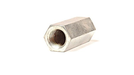 7/16-14 X 1 1/4 COUPLING NUT SHORT ZINC PLATED