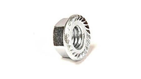 1/4 HEX FLANGE NUT ZINC PLATED