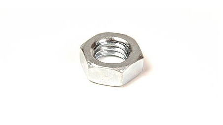 9/16-12 FINISHED HEX JAM NUT ZINC PLATED