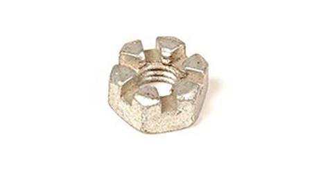 1/4-20 SLOTTED HEX NUTS ZINC PLATED